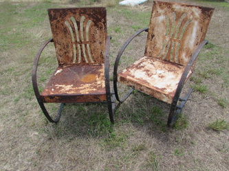 Beautiful Francois Carre Stationary Flare Back Chairs.#205891 $395  Each.Includes Shipping.