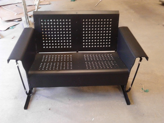 Vintage Metal Gliders,Old Fashioned Metal Chairs And Retro ...