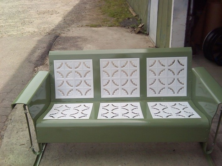 Powdercoated Restored Vintage Metal Patio Gliders Vintage Metal