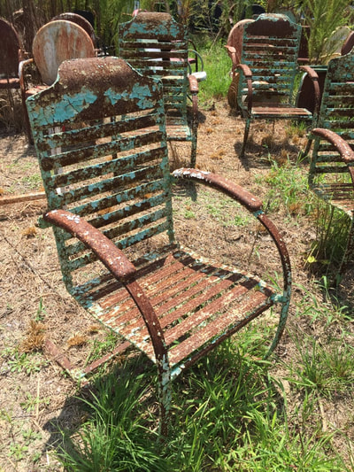 Vintage Metal Chairs And Retro Patio Tables   Vintage Metal Gliders,Old  Fashioned Metal Chairs And Retro Metal Tables! Vintage Furniture Company