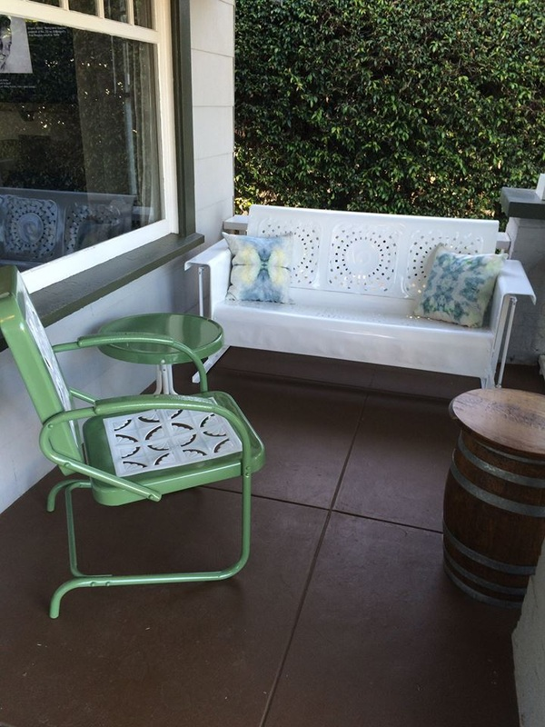 Super Vintage Metal Gliders Old Fashioned Metal Chairs And Retro Home Interior And Landscaping Eliaenasavecom