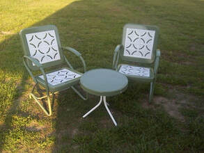 Vintage Metal Chairs And Retro Patio